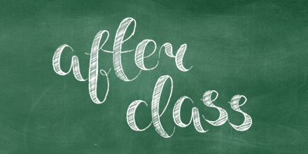 After class blog banner chalkboard